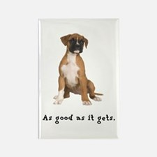 Good Boxer Puppy Rectangle Magnet