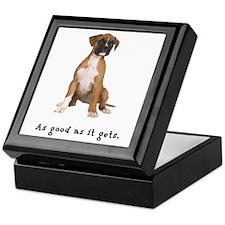 Good Boxer Puppy Keepsake Box