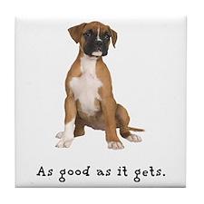 Good Boxer Puppy Tile Coaster