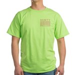 Misty Name Priceless Bar Code Green T-Shirt