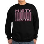 Misty Name Priceless Bar Code Sweatshirt (dark)