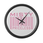 Misty Name Priceless Bar Code Large Wall Clock
