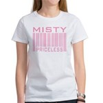Misty Name Priceless Bar Code Women's T-Shirt