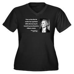 Thomas Jefferson 19 Women's Plus Size V-Neck Dark