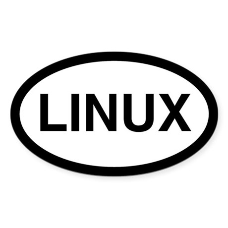 Linux Oval Sticker