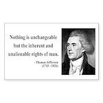 Thomas Jefferson 20 Rectangle Sticker