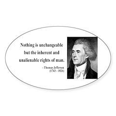 Thomas Jefferson 20 Oval Sticker