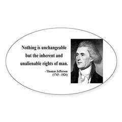 Thomas Jefferson 20 Oval Decal