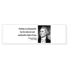 Thomas Jefferson 20 Bumper Bumper Sticker