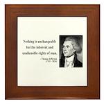 Thomas Jefferson 20 Framed Tile