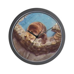 brown bear 2 Wall Clock