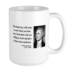 Thomas Jefferson 3 Large Mug