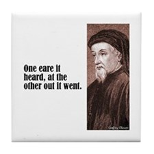 "Chaucer ""One Eare"" Tile Coaster"