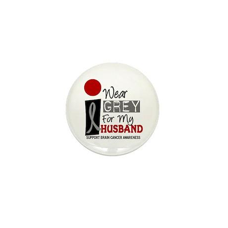 I Wear Grey For My Husband 9 Mini Button