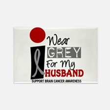 I Wear Grey For My Husband 9 Rectangle Magnet