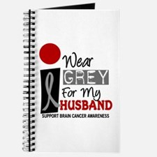 I Wear Grey For My Husband 9 Journal