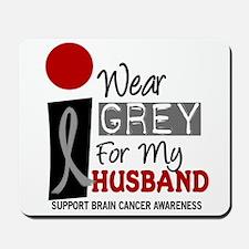 I Wear Grey For My Husband 9 Mousepad