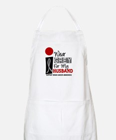 I Wear Grey For My Husband 9 BBQ Apron