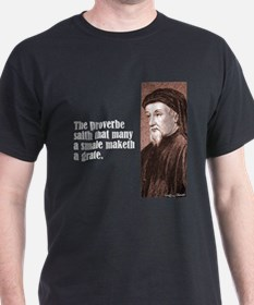 "Chaucer ""Proverbe"" T-Shirt"