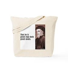 """Chaucer """"Gentil"""" Tote Bag"""
