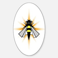 Bees Please Oval Decal