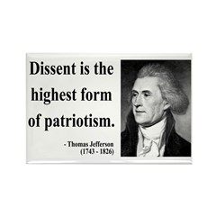 Thomas Jefferson 24 Rectangle Magnet (100 pack)