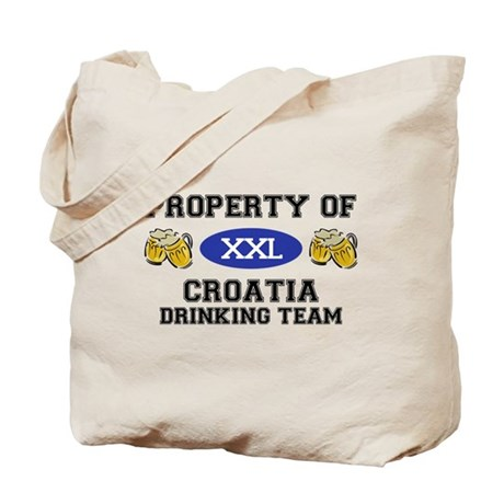 Property of Croatia Drinking Team Tote Bag