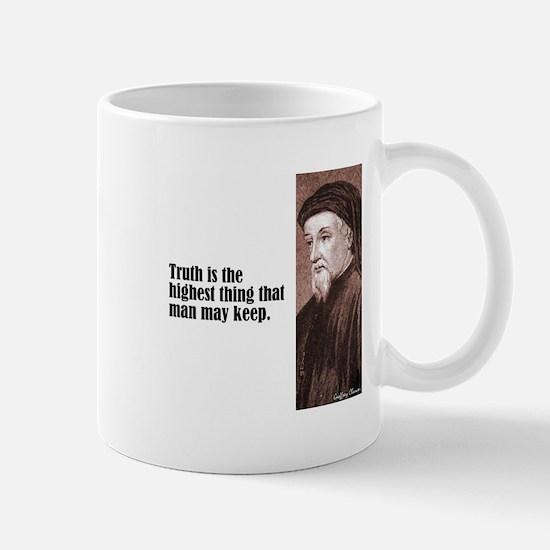 "Chaucer ""Truth"" Mug"