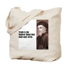 "Chaucer ""Truth"" Tote Bag"