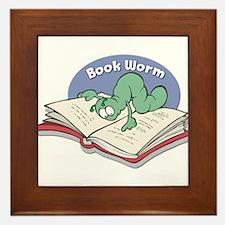 Book Worm Framed Tile