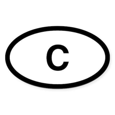 C Oval Sticker