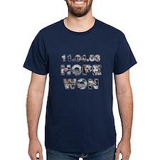 11.04.08: Hope Won Dark Obama T-Shirt
