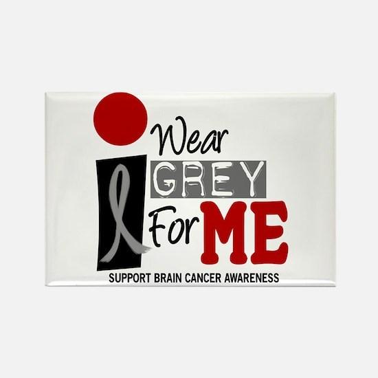 I Wear Grey For Me 9 Rectangle Magnet