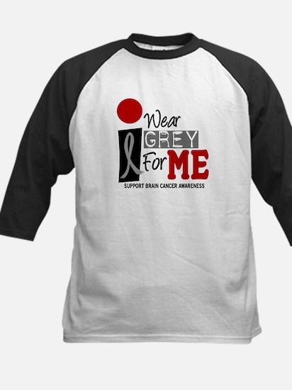 I Wear Grey For Me 9 Kids Baseball Jersey