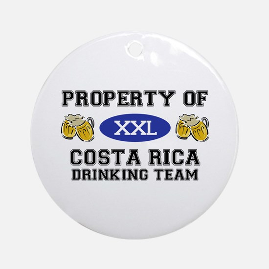 Property of Costa Rica Drinking Team Ornament (Rou