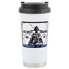 USS West Virginia BB 48 Travel Mug
