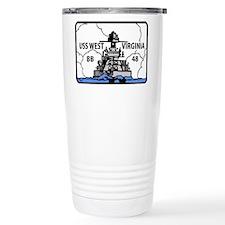 USS West Virginia BB 48 Travel Mug