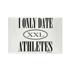I ONLY DATE ATHLETES Rectangle Magnet (10 pack)