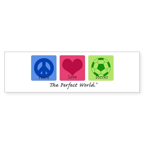 Peace Love Soccer Bumper Sticker