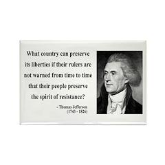 Thomas Jefferson 25 Rectangle Magnet (100 pack)