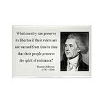 Thomas Jefferson 25 Rectangle Magnet (10 pack)