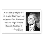 Thomas Jefferson 25 Rectangle Sticker
