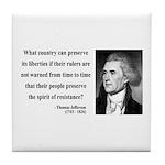 Thomas Jefferson 25 Tile Coaster