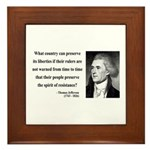 Thomas Jefferson 25 Framed Tile