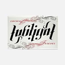 Twilight Forever Ambigram Rectangle Magnet