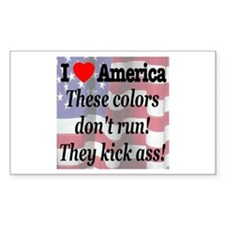 These colors don't run! Rectangle Decal