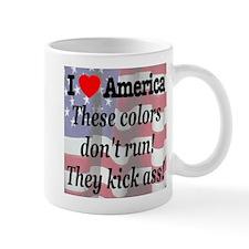 These colors don't run! Mug