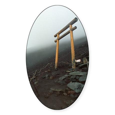 Mount Fuji Torii Oval Sticker
