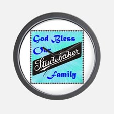 """""""God Bless Our Stude Family"""" Wall Clock"""