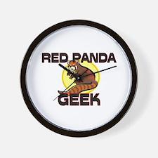 Red Panda Geek Wall Clock